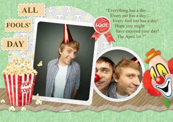 May you have a nice fool\u0027s day with this card template! Greeting