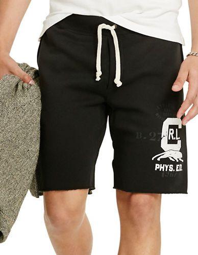 Polo Ralph Lauren Fleece Drawstring Shorts Men s Polo Black Medium ... 62976f411