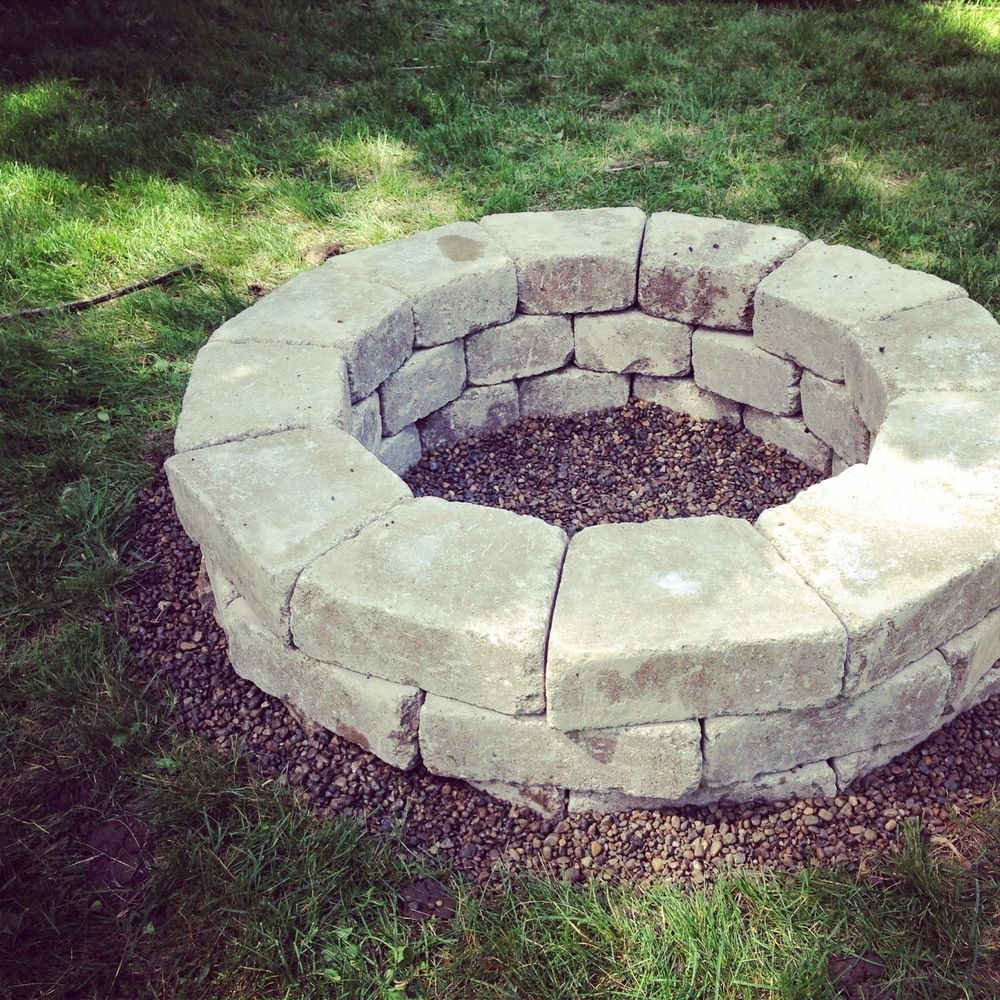 DIY Stone Firepit — Crafted Love