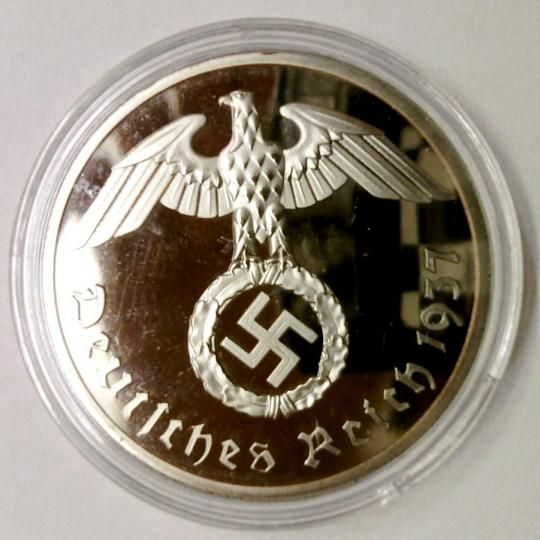 1937 Paul von Hindenburg 1847-1934  k dispozicii aj viac kusov  PRIEMER -30 mm  len na zberatelské učely  POSTRIEBRENA V OCHRANNÉJ BUBLINE.  STAV VID FOTO pozrite aj iné moje ponuky Pri kupe viacerých predmetov platíte len jedno poštovné 1, 30 € pri pladbe na učet .----možnost...