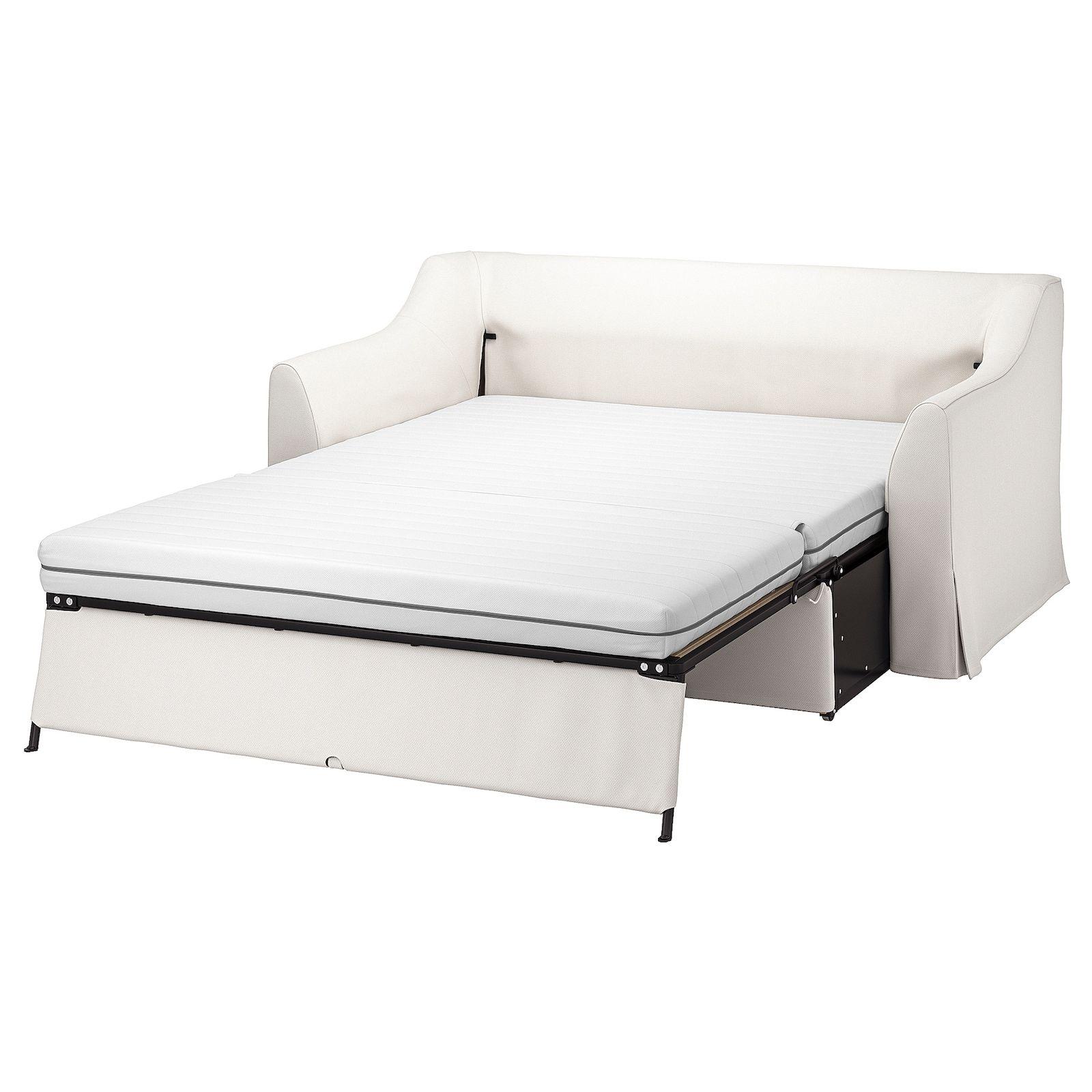 Farlov Sleeper Sofa Flodafors White Ikea In 2020 Ikea Sofa Bed Mattress Sofa Foam Sofa