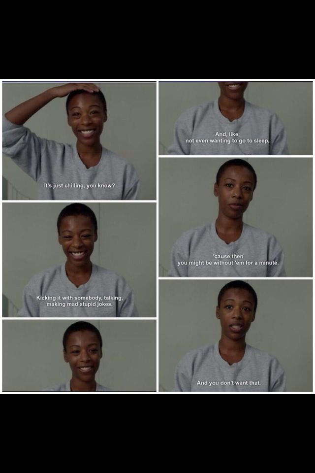 """""""What is love?"""" Poussey is my favourite #oitnb"""