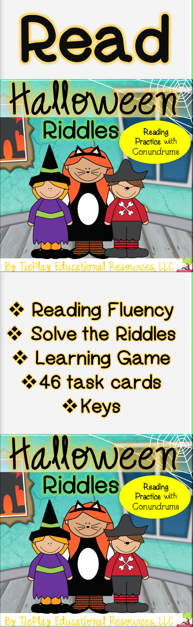 Halloween Riddles and Reading Aloud Practice Activity No