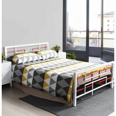 Isabelle & Max™ <p></p><strong>Features:</strong><ul><li>easy to assemble.</li><li>Enough space to put storage boxes or drawers to collect clothes</li><li>Metal bed frame adopts an elegant design with lots of structural and 6 legs support</li><li>Metal beds perfect gift for anyone who needs a fine Victorian bed frame</li><li>Metalbed frame one box packing and easy assembly</li><li>no need box spring</li><li>Powder coating finish</li><li>Number of Slats Included: 32</li><li>Canopy Fabric Included