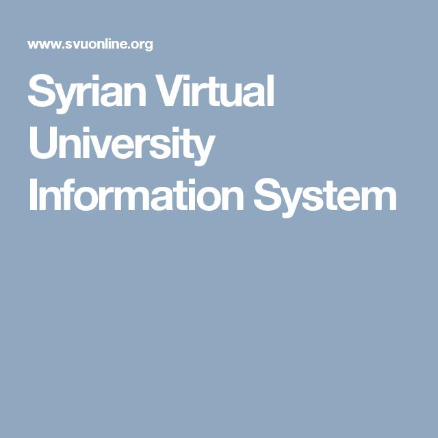 Syrian Virtual University Information System