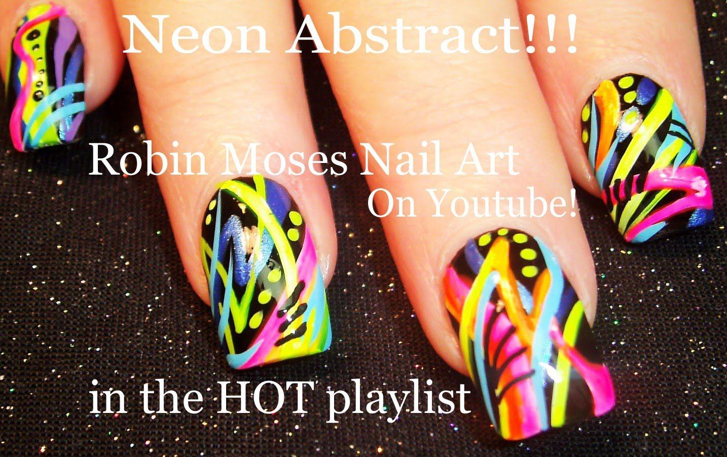 Nail Art Tutorial Diy Neon Abstract Nails 80 S Old School