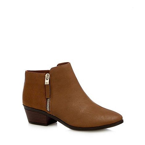 sale footlocker pictures Taupe 'Gunson' mid block heel ankle boots buy cheap nicekicks cheap sale big sale professional cheap price sale pre order iA9ohlrSV7