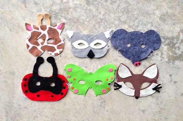 Molde para hacer máscaras de animales en fieltro- Las Manualidades - manualidades faciles