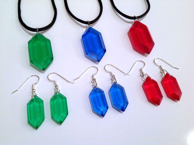 Rupee Jewelry | 10 More Geektastic Legend Of Zelda Crafts Now On Etsy