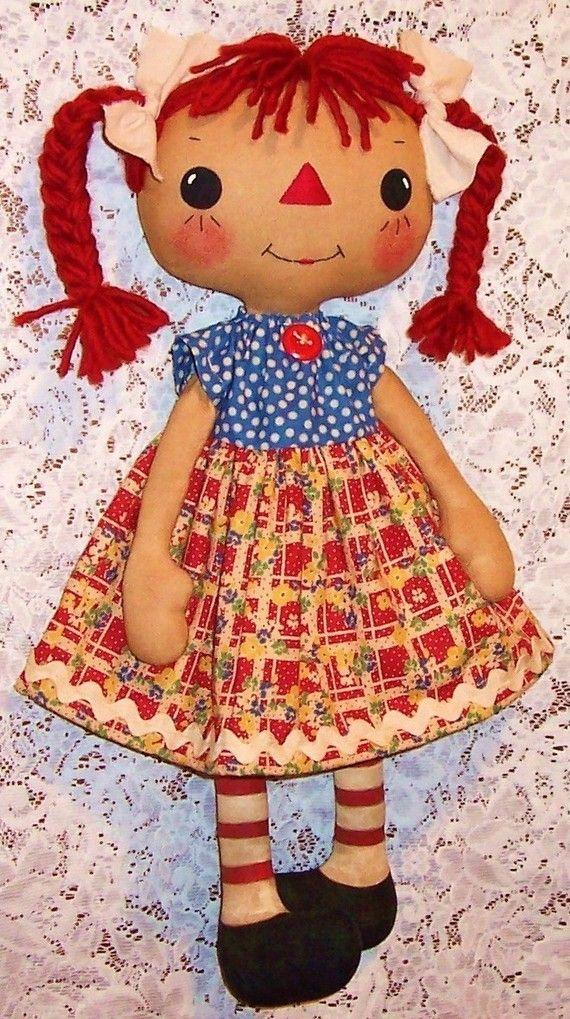 Cloth Doll Pattern Rag Doll Pattern PDF doll by OhSewDollin ...
