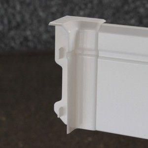 Sockelleiste Pst Weiss W2 80mm 2 5m Weiss Sockelleisten Weiss
