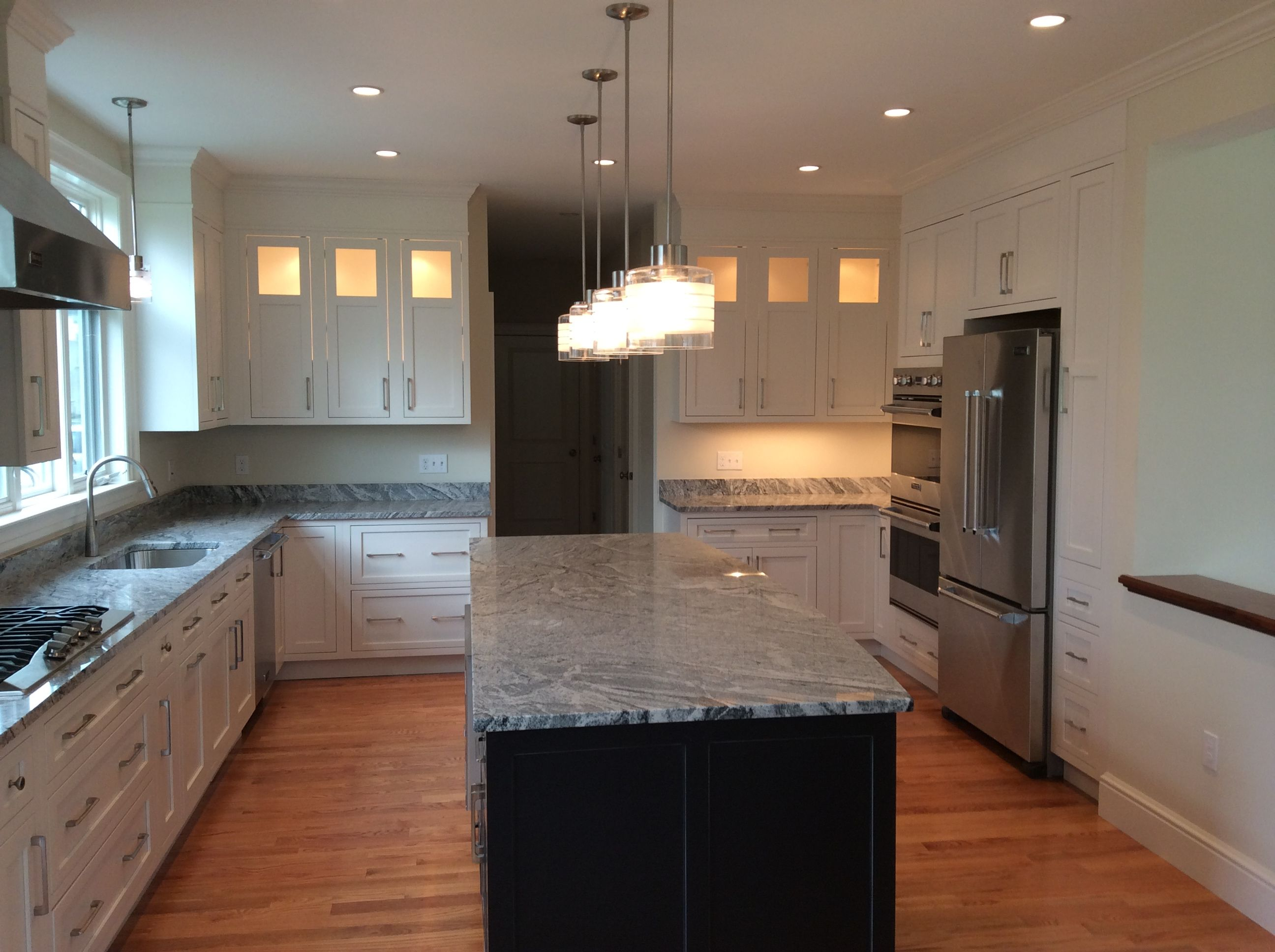 New Construction Kitchen In Sherborn Massachusetts Designed By Matthew Desmond With Oceanside Cabinets In Marblehead Mass Kitchen Remodel Cabinetry Kitchen