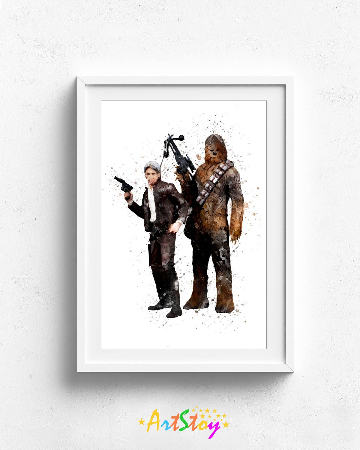 3 00 Han Solo Art Print Star Wars Science Fiction Han Solo Poster Geekery Ski Fi Poster Wall Art Home Decor Gift For Him Han Solo Art Art Prints Art