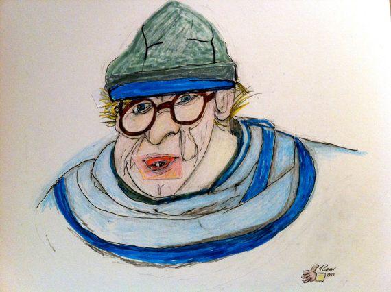 Outsider Art 'I Need New Glasses' 2012 Post by katarinathorsen, $340.00