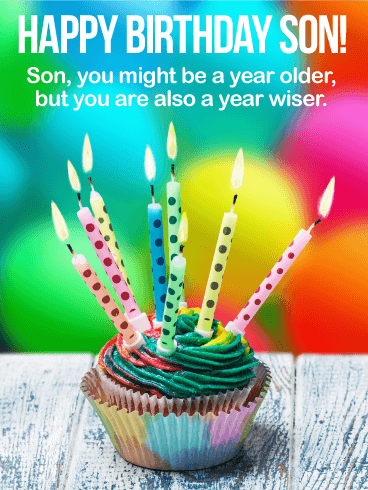 Older But Wiser Happy Birthday Wishes Card For Son Happy Birthday Wishes Cards Happy Birthday Cards Images Birthday Cards Images