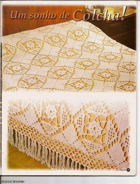 Crochet Bedspread Free Pattern Crochet Bedspreads Pinterest