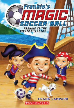 Frankie vs. the Pirate Pillagers by Frank Lampard -- ESSENTIAL When Frankie wins a game at a carnival, the soccer ball he receives as a prize turns out to be magic. An impromptu match with the ball afterward transports Frankie, his friends, and his dog to a fantastical ship, where they go head-to-head against a group of pirates. Frankie and his friends have no choice but to play, and play hard, because the winners get to go home while the losers will be marooned on a deserted island. EL