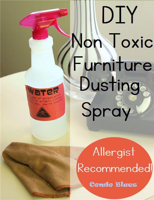 DIY Allergy Friendly Homemade Furniture Dusting Spray