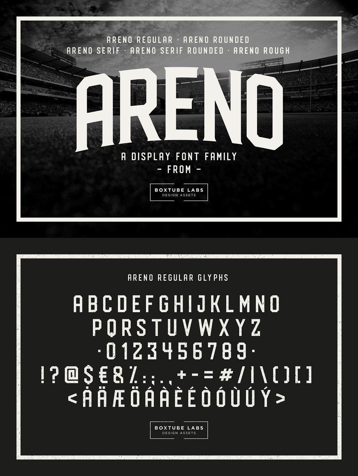 Areno Sports Fonts Vintage Fonts Brand Fonts