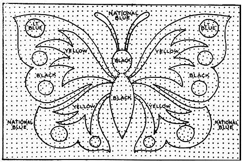 Monarch Rug Pattern Chart Hooking