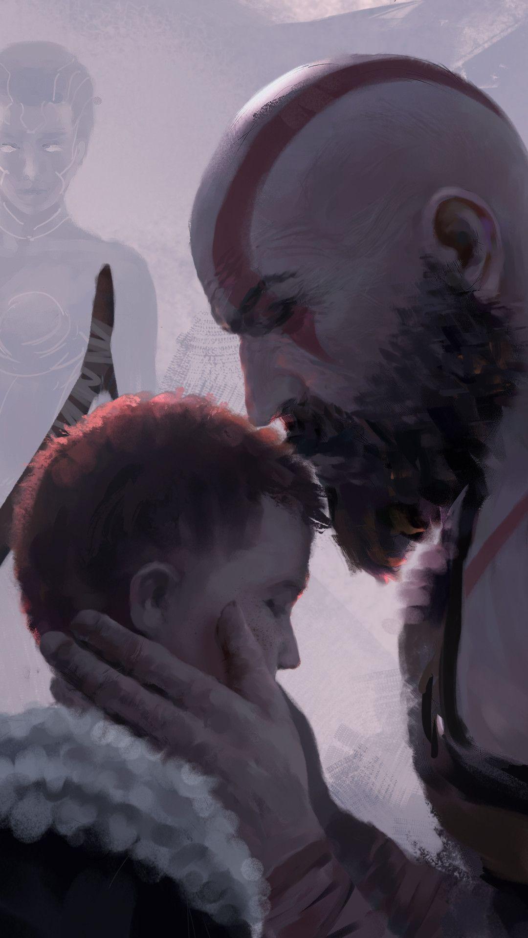 Be Safe Son God Of War 4 Mobile Wallpaper Iphone Android Samsung Pixel Xiaomi God Of War Kratos God Of War War Artwork