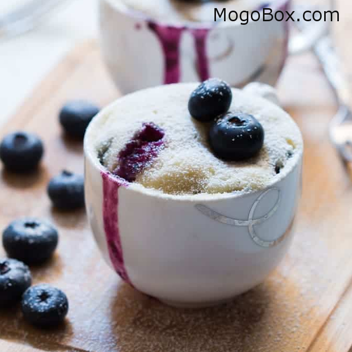 Eggless Blueberry Microwave Mug Cake | Mug recipes, Mug ...