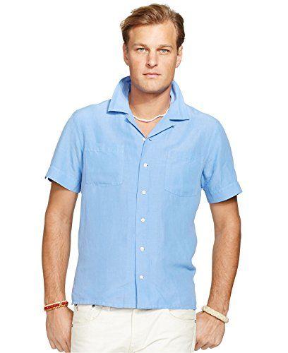 9a3891ac72b POLO RALPH LAUREN Polo Ralph Lauren Men S Linen Silk Camp Shirt Embroidered  Pony Harbor Island Blue.  poloralphlauren  cloth