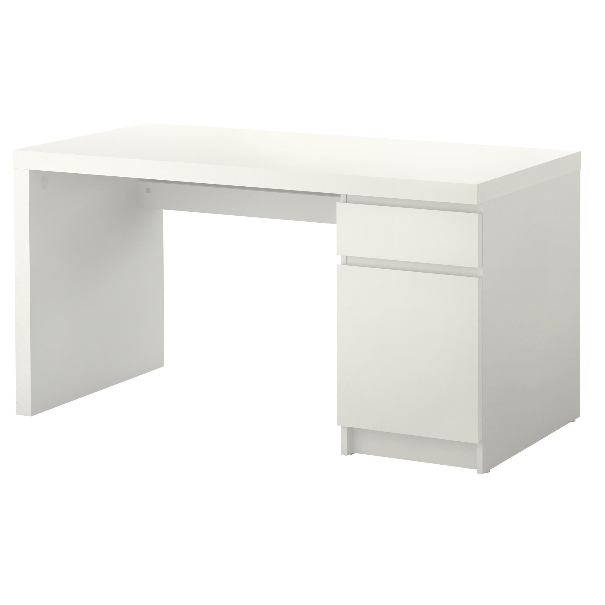 Malm Desk White 55 1 8x25 5 8 Mesa Branca Reforma De Escrivaninha Mesa De Quarto
