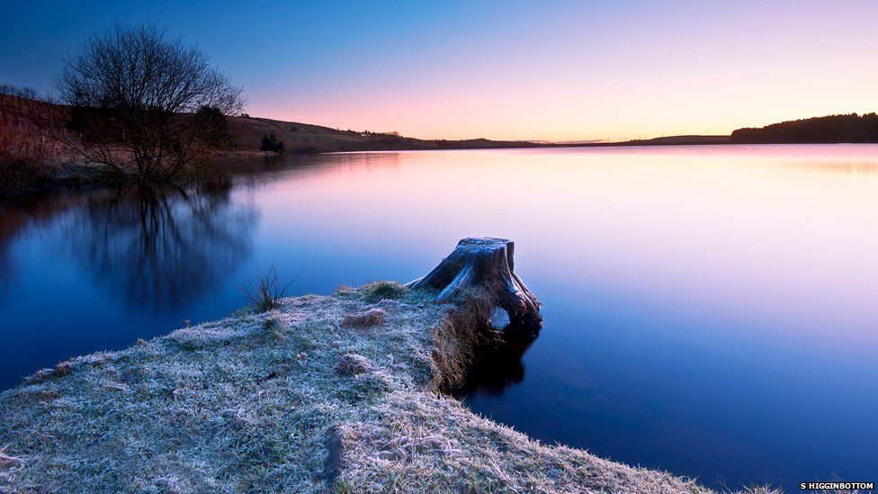 "A very cold December morning in the Pennines was the setting for Simon Higginbottom's colourful landscape. ""I have photographed this location many times before but this time the water level was a lot higher,"" he told BBC Nature. Simon used an exposure of 25 seconds to smooth out any water movement."