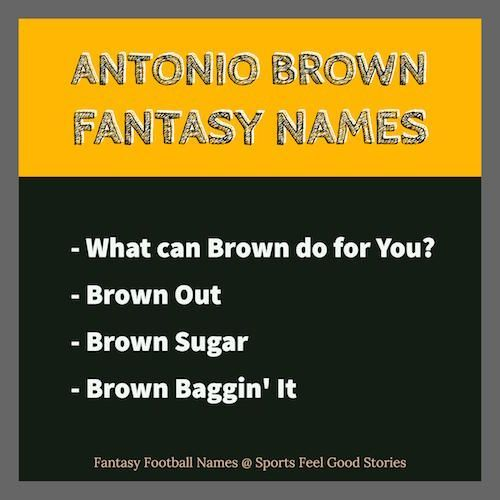 Antonio Brown Fantasy Football Names Fantasy Football Team Names