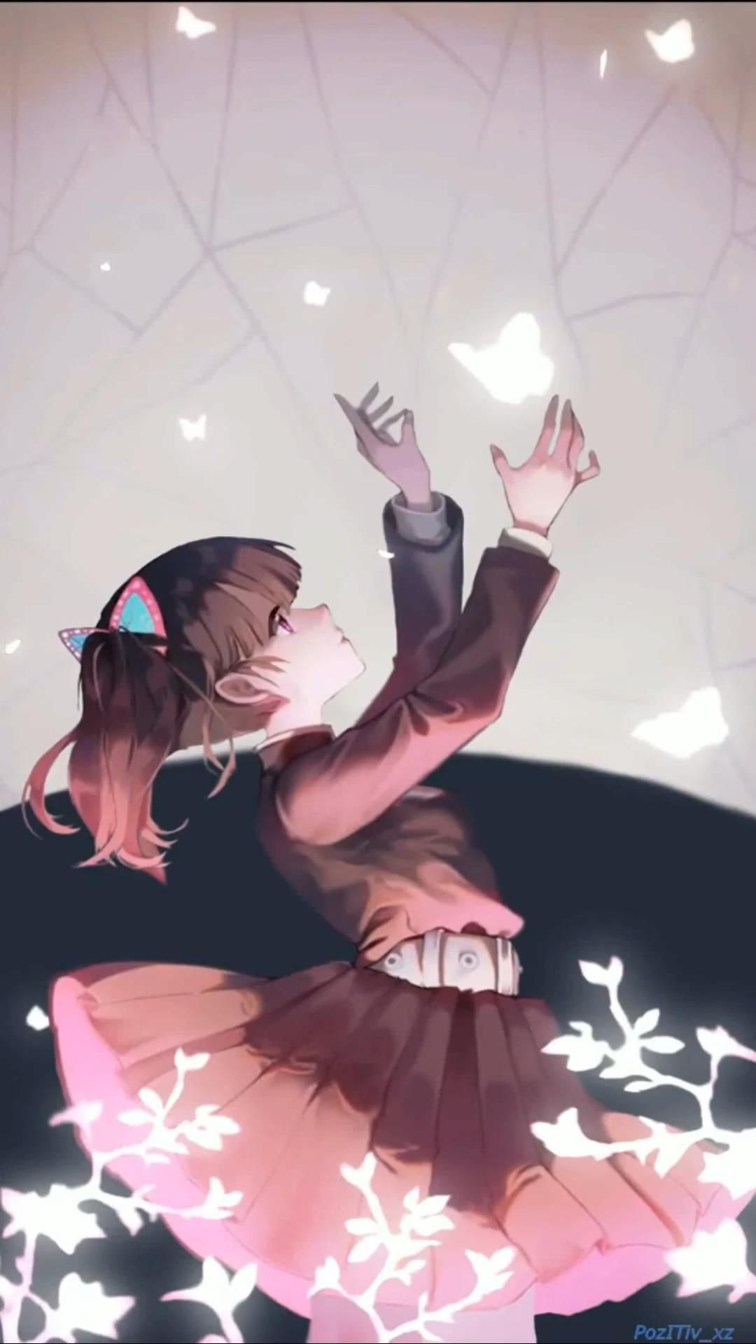 Kanao and Butterfly Beutiful Live wallpaper - Demon Slayer