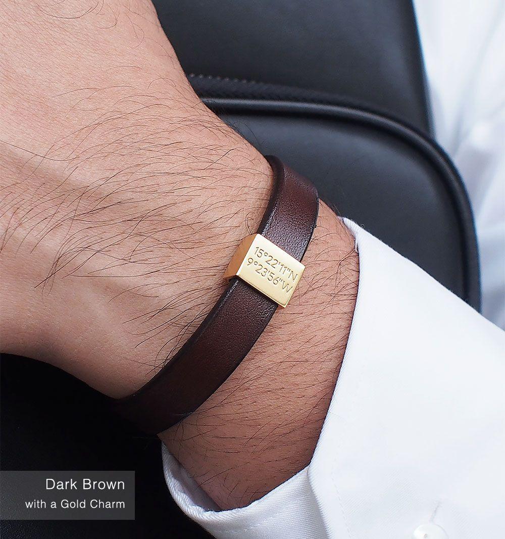 Skull Bracelet Brown Leather Bracelet Handmade Leather Gift Leather Wrap Bracelet Custom and Personalized Gift Cuff Wrap