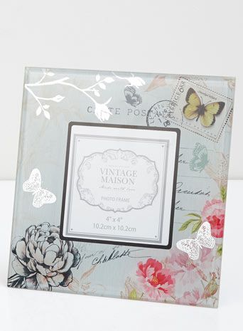 Floral print glass frame 4x4 | Home ideas | Pinterest | Bhs and Glass