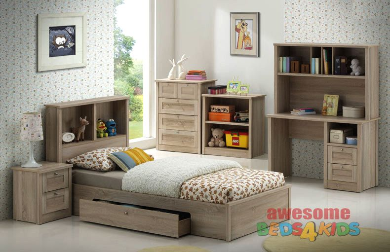 Broadbeach 5 Piece Bedroom Suite with Underbed Drawer Single ...