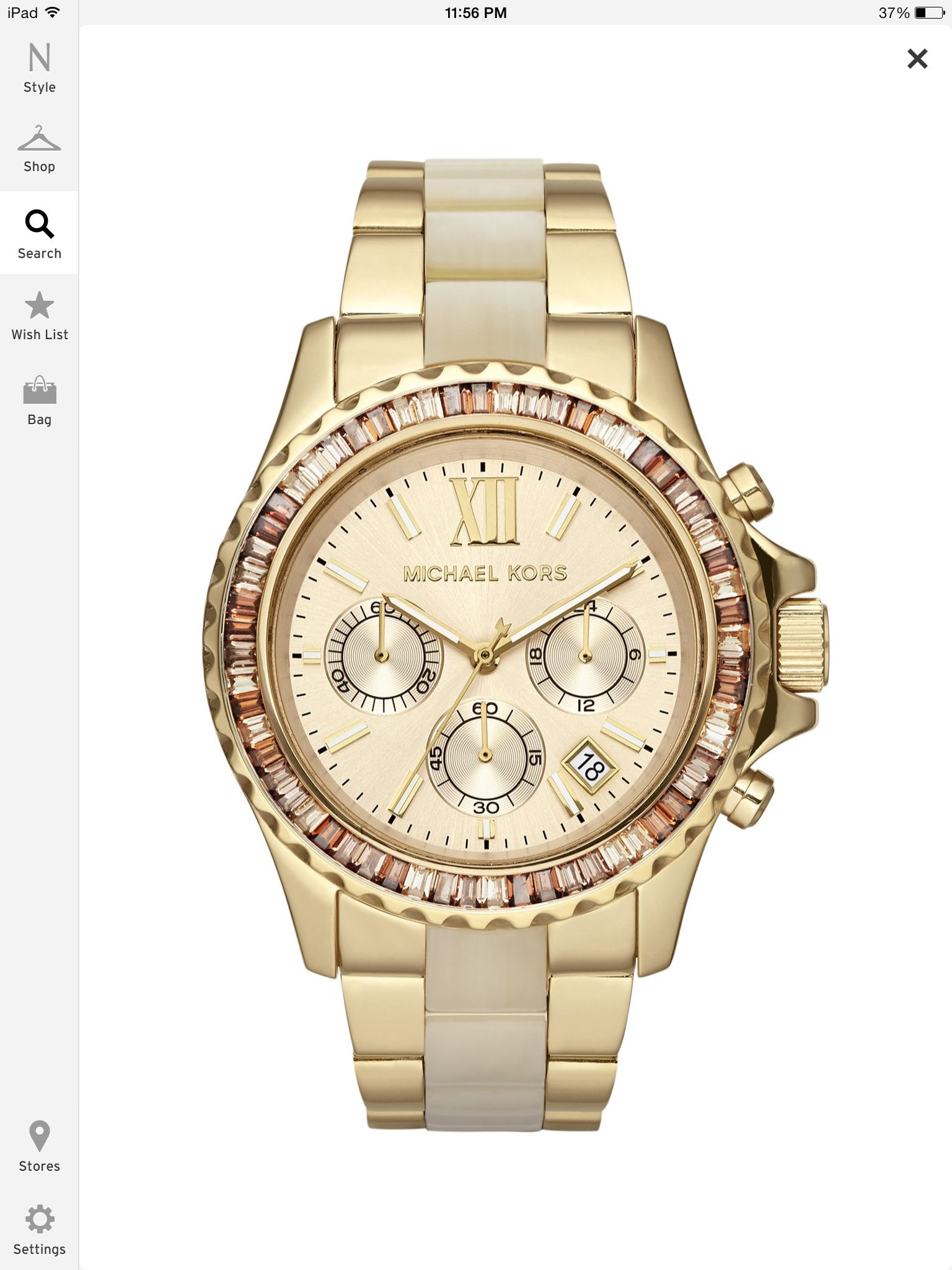 35f6332ed Micheal Kors Gold watch with crystal   relógios   Pinterest   Relógios