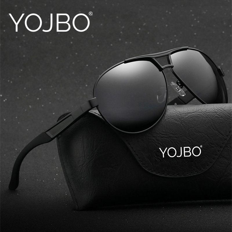купить Yojbo Авиатор мужские солнцезащитные очки 2018 поляризационные  gafas-де-сол женщин точки для d960f55a291