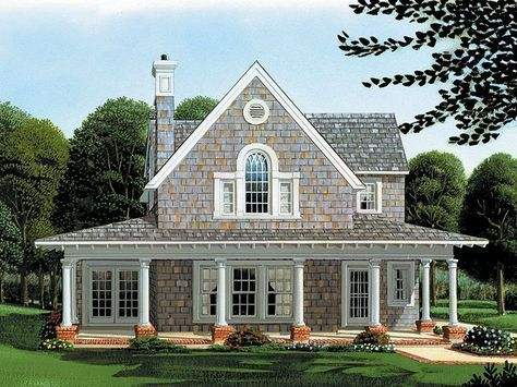 Narrow Lot House Plan, 054H-0049 Home plans in 2018 Pinterest