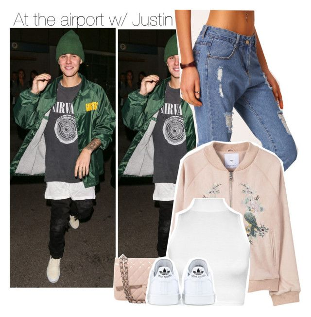 """""""At the airport w/ Justin"""" by direction-of-the-summer ❤ liked on Polyvore featuring Justin Bieber, MANGO, Chanel, WearAll and adidas"""