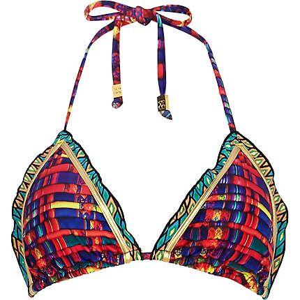 Orange Pacha abstract print bikini top £18.00