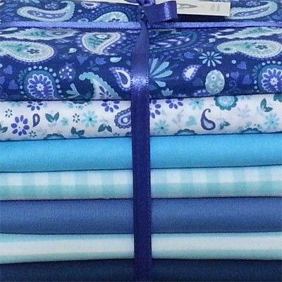 """Kit de tecidos """"Encantamento Azul"""""""