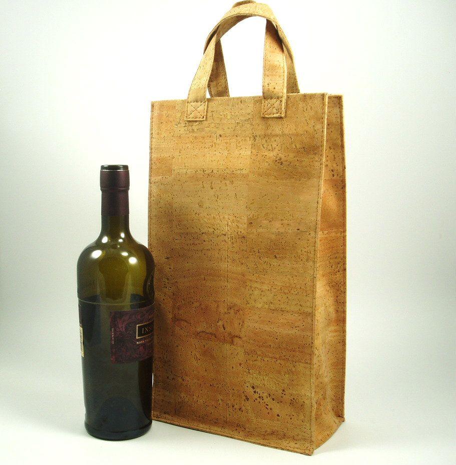 2bottle cork wine tote wine bag cortizza wine bag