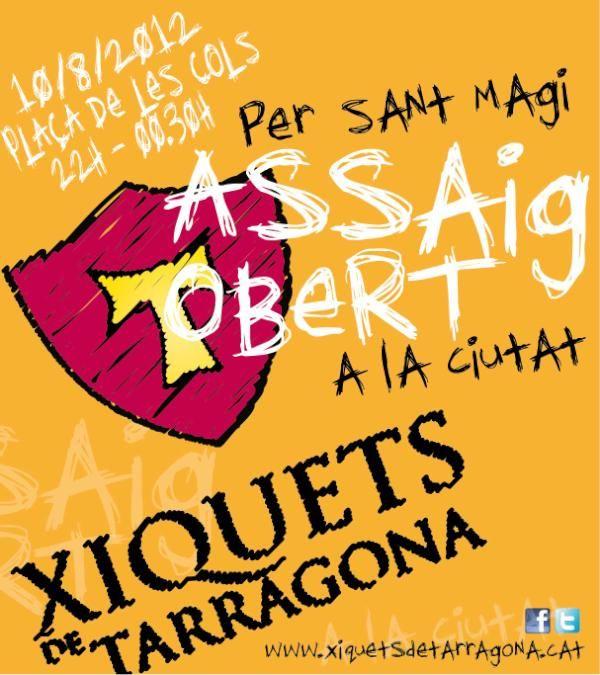 Assaig obert sant magí 2012. Xiquets de Tarragona.