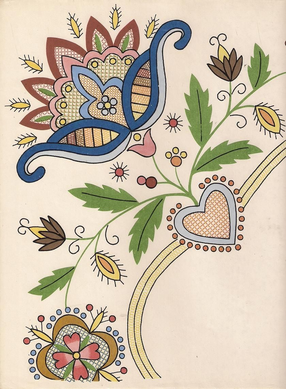 Bordado Jacobean | Diseños Jacobean | Pinterest | Bordado, Bordado ...