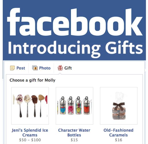 Facebook Introducing Facebook gifts