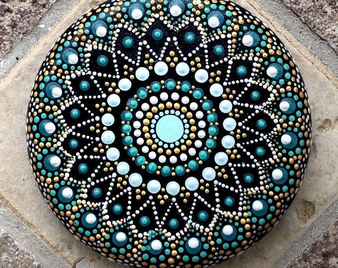 Painted rocks, Mandala rock, painted stones, painted rock, mandala stone, painted stone, rock mandala, dot art, mandala rocks