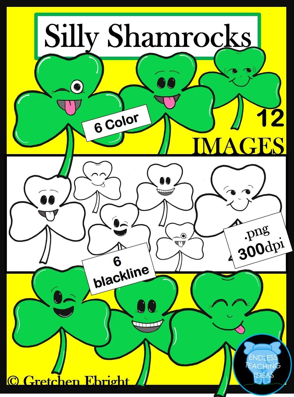 Silly Shamrocks Clip Art Set