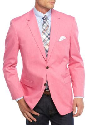 Saddlebred Men's Classic-Fit Fuschia Chambray Sport Coat - Fuchsia ...