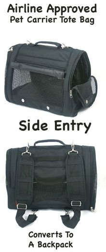 Black Canvas Convertible Backpack Pet Carrier Dog Backpack