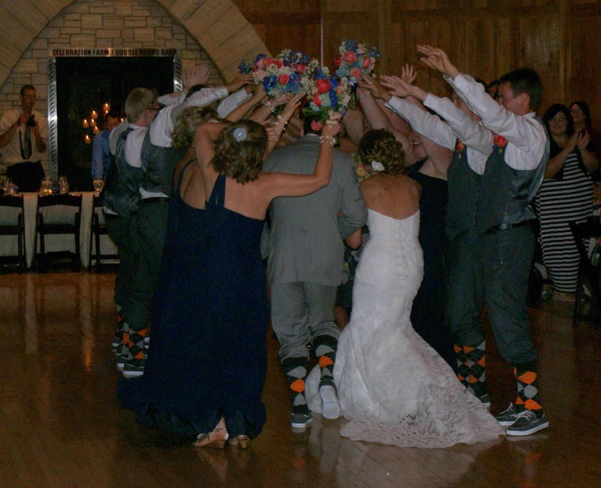 A Fun Way For The Bride And Groom To Enter The Wedding