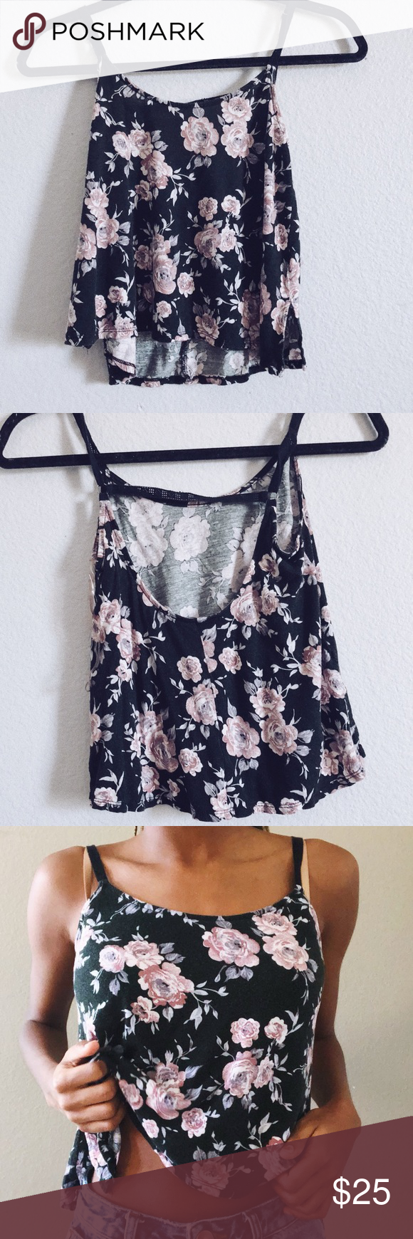 60ceaa7a3bbee Floral tank top Size xsmall-small Bought from Tillys Brand name Chloe K Tilly s  Tops Tank Tops
